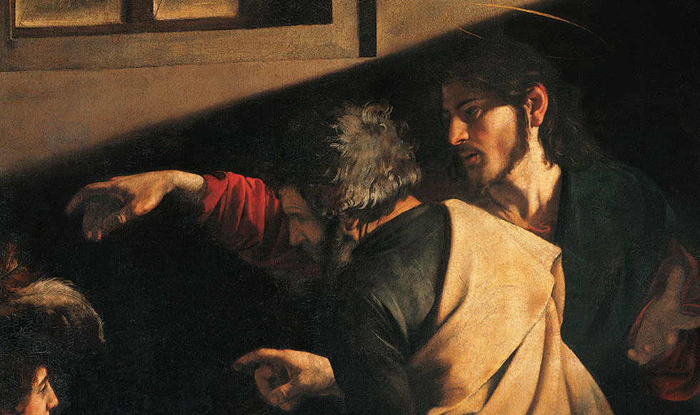 Calling of Saint Matthew, by Michelangelo Merisi also known as Caravaggio, 1599 - 1600, 16th Century, oil on canvas, 322 x 340 cm